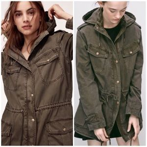 Aritzia Talula Trooper Military Hoodie Jacket